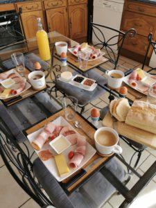 Petit déjeuner du terroir 9 € par personne et par jour sur commande